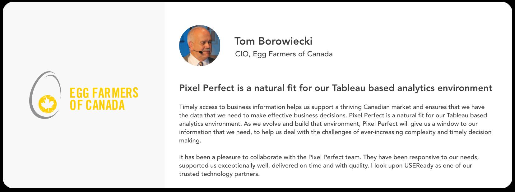Tom Boroweicki, Egg Farmers of Canada